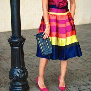 Antho Moulinette Soeurs Marigot Striped Midi Skirt